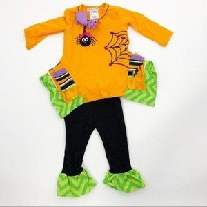 Jessica Ann Boutique Spooky Outfit Spider 12 Month